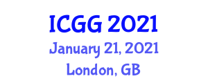 International Conference on Geography and Geosciences (ICGG) January 21, 2021 - London, United Kingdom