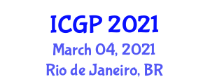 International Conference on Geography and Planning (ICGP) March 04, 2021 - Rio de Janeiro, Brazil