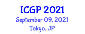International Conference on Geography and Planning (ICGP) September 09, 2021 - Tokyo, Japan