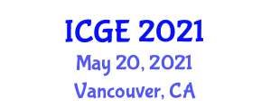 International Conference on Geography and the Environment (ICGE) May 20, 2021 - Vancouver, Canada