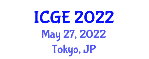 International Conference on Geography and the Environment (ICGE) May 27, 2022 - Tokyo, Japan