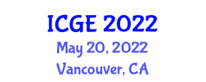 International Conference on Geography and the Environment (ICGE) May 20, 2022 - Vancouver, Canada