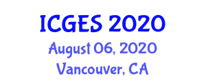 International Conference on Geography, Environment and Society (ICGES) August 06, 2020 - Vancouver, Canada