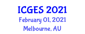 International Conference on Geography, Environment and Society (ICGES) February 01, 2021 - Melbourne, Australia