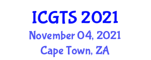 International Conference on Geography of Transport Systems (ICGTS) November 04, 2021 - Cape Town, South Africa