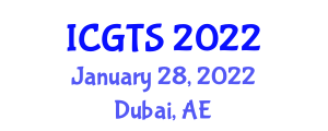 International Conference on Geography of Transport Systems (ICGTS) January 28, 2022 - Dubai, United Arab Emirates