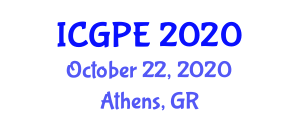 International Conference on Geography, Planning, and Environment (ICGPE) October 22, 2020 - Athens, Greece