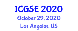 International Conference on Geography, Society and Environment (ICGSE) October 29, 2020 - Los Angeles, United States