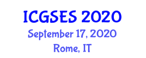 International Conference on Geography, Society and Environmental Systems (ICGSES) September 17, 2020 - Rome, Italy