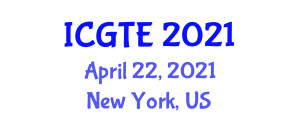 International Conference on Geography, Transport and Environment (ICGTE) April 22, 2021 - New York, United States
