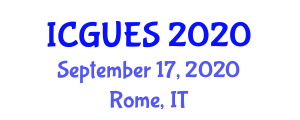 International Conference on Geography, Urban and Environmental Studies (ICGUES) September 17, 2020 - Rome, Italy