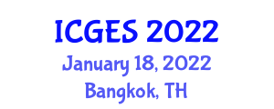 International Conference on Geohazards and Earth Science (ICGES) January 18, 2022 - Bangkok, Thailand