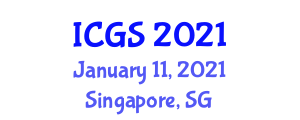 International Conference on Geohazards and Seismology (ICGS) January 11, 2021 - Singapore, Singapore