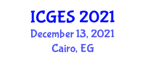International Conference on Geological and Earth Sciences (ICGES) December 13, 2021 - Cairo, Egypt