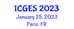International Conference on Geological and Earth Sciences (ICGES) January 25, 2023 - Paris, France