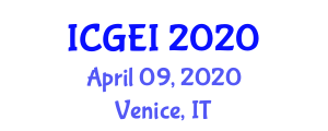 International Conference on Geological Engineering Investigations (ICGEI) April 09, 2020 - Venice, Italy
