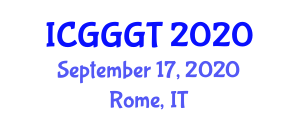 International Conference on Geology, Geography and Geospatial Technology (ICGGGT) September 17, 2020 - Rome, Italy