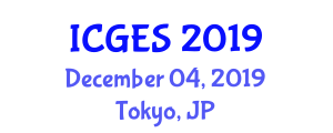 International Conference on Geomatics Engineering and Surveying (ICGES) December 04, 2019 - Tokyo, Japan