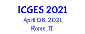 International Conference on Geomorphology and Exploration Seismology (ICGES) April 08, 2021 - Rome, Italy