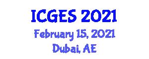 International Conference on Geomorphology and Exploration Seismology (ICGES) February 15, 2021 - Dubai, United Arab Emirates
