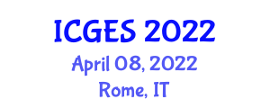 International Conference on Geomorphology and Exploration Seismology (ICGES) April 08, 2022 - Rome, Italy