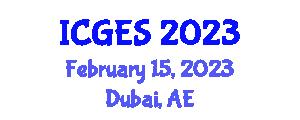 International Conference on Geomorphology and Exploration Seismology (ICGES) February 15, 2023 - Dubai, United Arab Emirates