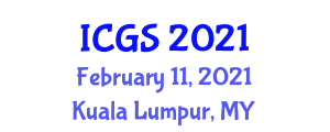 International Conference on Geomorphology and Seismology (ICGS) February 11, 2021 - Kuala Lumpur, Malaysia
