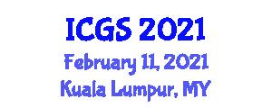 International Conference on Geomorphology and Seismology (ICGS) February 11, 2021 - Kuala Lumpur, Malaysia
