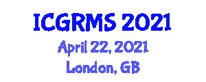 International Conference on Geomorphology, Rock Mechanics and Seismology (ICGRMS) April 22, 2021 - London, United Kingdom