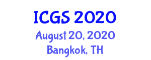 International Conference on Geophysics and Seismology (ICGS) August 20, 2020 - Bangkok, Thailand