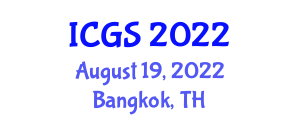 International Conference on Geophysics and Seismology (ICGS) August 19, 2022 - Bangkok, Thailand