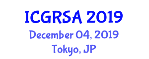 International Conference on Geoscience and Remote Sensing Applications (ICGRSA) December 04, 2019 - Tokyo, Japan