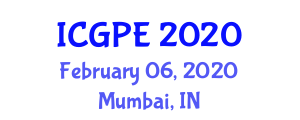 International Conference on Geosciences and Petroleum Engineering (ICGPE) February 06, 2020 - Mumbai, India