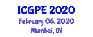 International Conference on Geosciences and Petroleum Engineering (ICGPE) February 06, 2020 - Mumbai, India