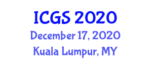 International Conference on Geosciences and Seismology (ICGS) December 17, 2020 - Kuala Lumpur, Malaysia
