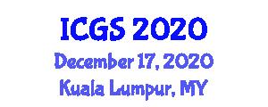 International Conference on Geosciences and Seismology (ICGS) December 17, 2020 - Kuala Lumpur, Malaysia