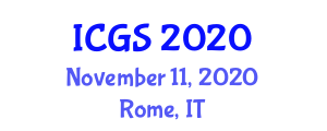 International Conference on Geosciences and Seismology (ICGS) November 11, 2020 - Rome, Italy