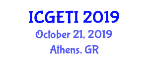 International Conference on Geotechnical Engineering for Transportation Infrastructure (ICGETI) October 21, 2019 - Athens, Greece