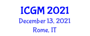 International Conference on Global Management (ICGM) December 13, 2021 - Rome, Italy