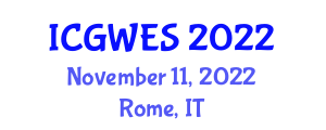 International Conference on Global Warming and Earth Science (ICGWES) November 11, 2022 - Rome, Italy