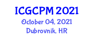 International Conference on Green Construction Project Management (ICGCPM) October 04, 2021 - Dubrovnik, Croatia