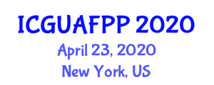 International Conference on Growing Urban Agriculture and Food Policy Plan (ICGUAFPP) April 23, 2020 - New York, United States