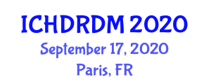 International Conference on Health Data Repository and Data Mining (ICHDRDM) September 17, 2020 - Paris, France