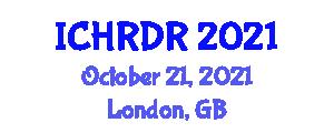 International Conference on Healthcare Robotics and Disability Robots (ICHRDR) October 21, 2021 - London, United Kingdom