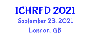 International Conference on Healthcare Robotics and Future Directions (ICHRFD) September 23, 2021 - London, United Kingdom