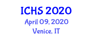 International Conference on Healthcare Softwares (ICHS) April 09, 2020 - Venice, Italy