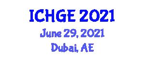 International Conference on History and Geography of Europe (ICHGE) June 29, 2021 - Dubai, United Arab Emirates