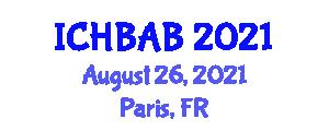 International Conference on Horse Breeding and Animal Behavior (ICHBAB) August 26, 2021 - Paris, France