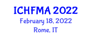 International Conference on Hospitality Financial Management and Analyzing (ICHFMA) February 18, 2022 - Rome, Italy