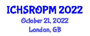 International Conference on Household Service Robotics and Object Perception Methods (ICHSROPM) October 21, 2022 - London, United Kingdom